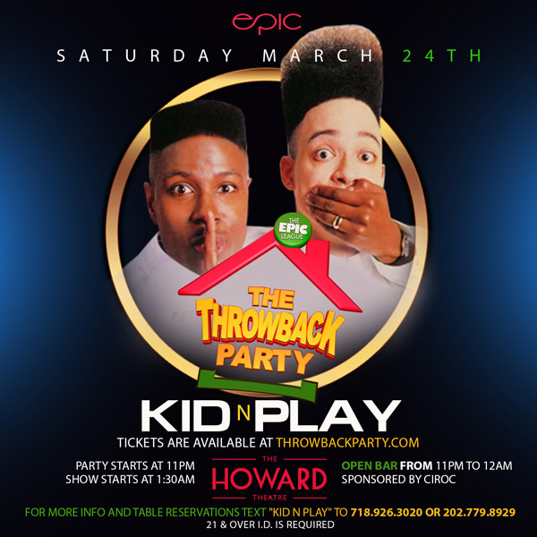 throwback party with kid n play